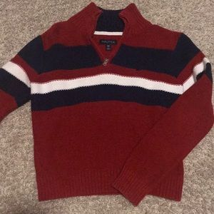 Nautica Boys Sweater 1/4 Zip Size 8